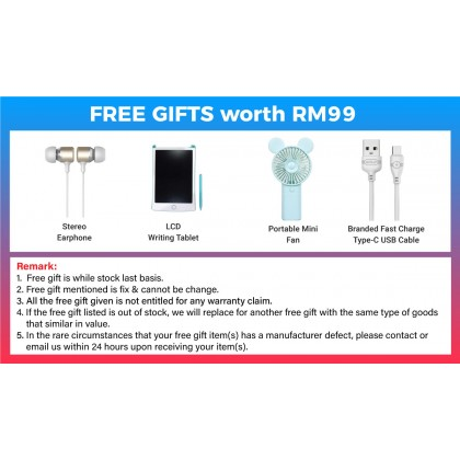 """Samsung Galaxy Tab A7 10.4"""" 2020 LTE (T505) / WIFI (T500) (3GB/32GB) Original Samsung Malaysia Set + 4 Free Gift Worth RM199"""