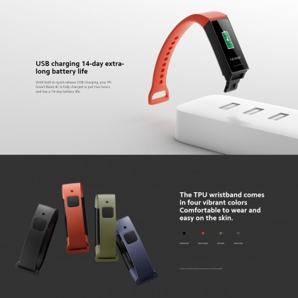 Xiaomi Mi Smart Band 4C /HMSH01GE Support Android And iOS (Global Version)