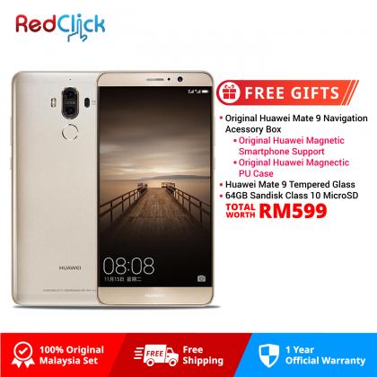 Huawei Mate 9 / MHA-L29 (4GB/64GB) Original Huawei Malaysia Set + 3 Free Gift Worth RM599