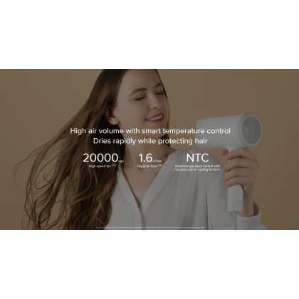 Xiaomi Mi Ionic Hair Dryer 1800W / CMJ01LX3 Quick Drying Technology Water Ions Protection