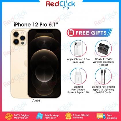 [Ready Stock] Apple iPhone 12 Pro 5G (128GB/256GB/512GB) Original Apple Set + 4 Free Gift Worth RM240