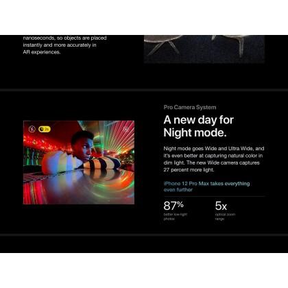 [Ready Stock] Apple iPhone 12 Pro Max 5G (128GB/256GB/512GB) Original Apple Set + 4 Free Gift Worth RM240