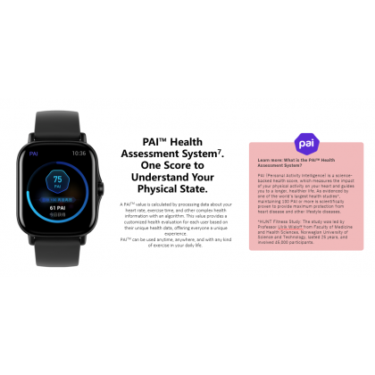 "(Official Amazfit) Amazfit GTS 2 1.65"" AMOLED Display 3D Curved Bezel-less Design Music Storage Build-in Mic and Speaker Support Phone Call + Free Gift"