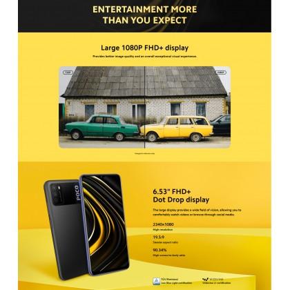 Xiaomi Poco M3 (4GB/64GB)(4GB/128GB) Original Xiaomi Malaysia + 5 Free Gift Worth RM199