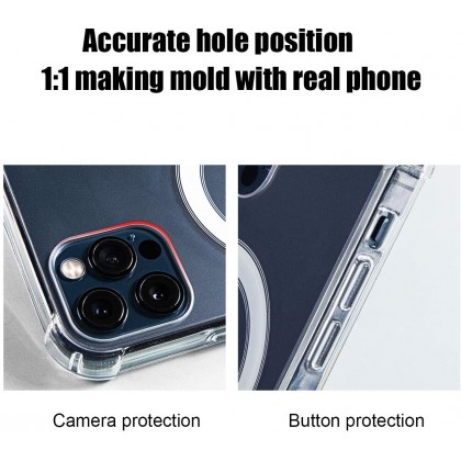 Atouchbo Apple iPhone 12 mini /12 /12 Pro /12 Pro Max  MagSafe Anti-Shock Transparent Case