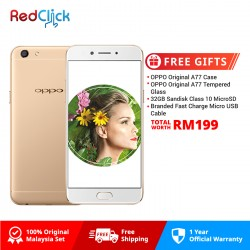OPPO A77 (4GB/64GB) Original OPPO Malaysia Set + 4 Free Gift Worth RM199