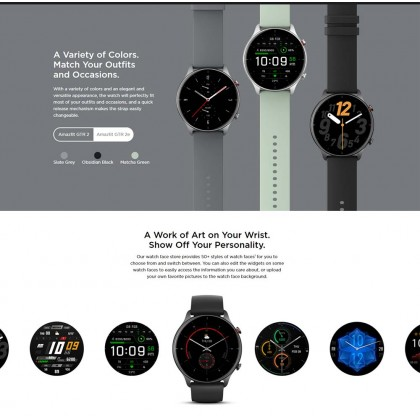 """(Official Amazfit) Amazfit GTR 2e A2023 1.39"""" AMOLED Always On Display 2.5D 24 Hour Heart Rate monitoring Ultra-Long Battery Life + Free Gift"""