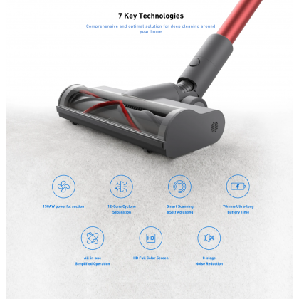 Xiaomi Dreame T20 25K Pa Cordless Vacuum Cleaner Intelligent All Surface Brush Global Set V11 Advanced Version