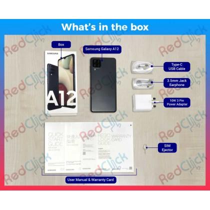Samsung Galaxy A12 (4GB/128GB)(6GB/128GB) Original Samsung Malaysia + 5 Free Gift Worth RM209