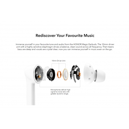 Honor Magic Earbuds Bluetooth 5.0 Hybrid Active Noise Cancelling Long Battery Life Earbuds Original Honor Product + Free Gift