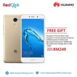 Huawei Y7 Prime / TRT-LX2 (3GB/32GB) Original Huawei Malaysia Set + 5 Free Gift Worth RM249