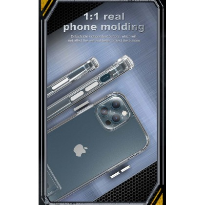 Atouchbo Apple iPhone 12 Mini /12 /12 Pro /12 Pro Max Transparent Camera Protection Anti Shock Back Case with Visible Stand