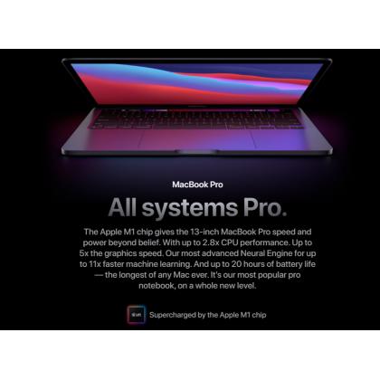 "Apple MacBook Pro 13"" 2020 /A2338 Apple M1 Chip with 8‑Core CPU and 8‑Core GPU 512GB SSD Storage Original Apple Set"