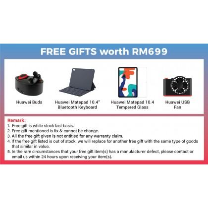 "Huawei Matepad 10.4"" (Wi-Fi)/BAH3-W59 (4GB/128GB) Original Huawei Malaysia Set + 5 Free Gift Worth RM699"