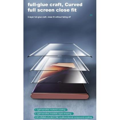 Atouchbo 99D OPPO Reno 5 Pro Light Sensitive Nano Glass Film Exclusive For Curved Screen Easy Stick