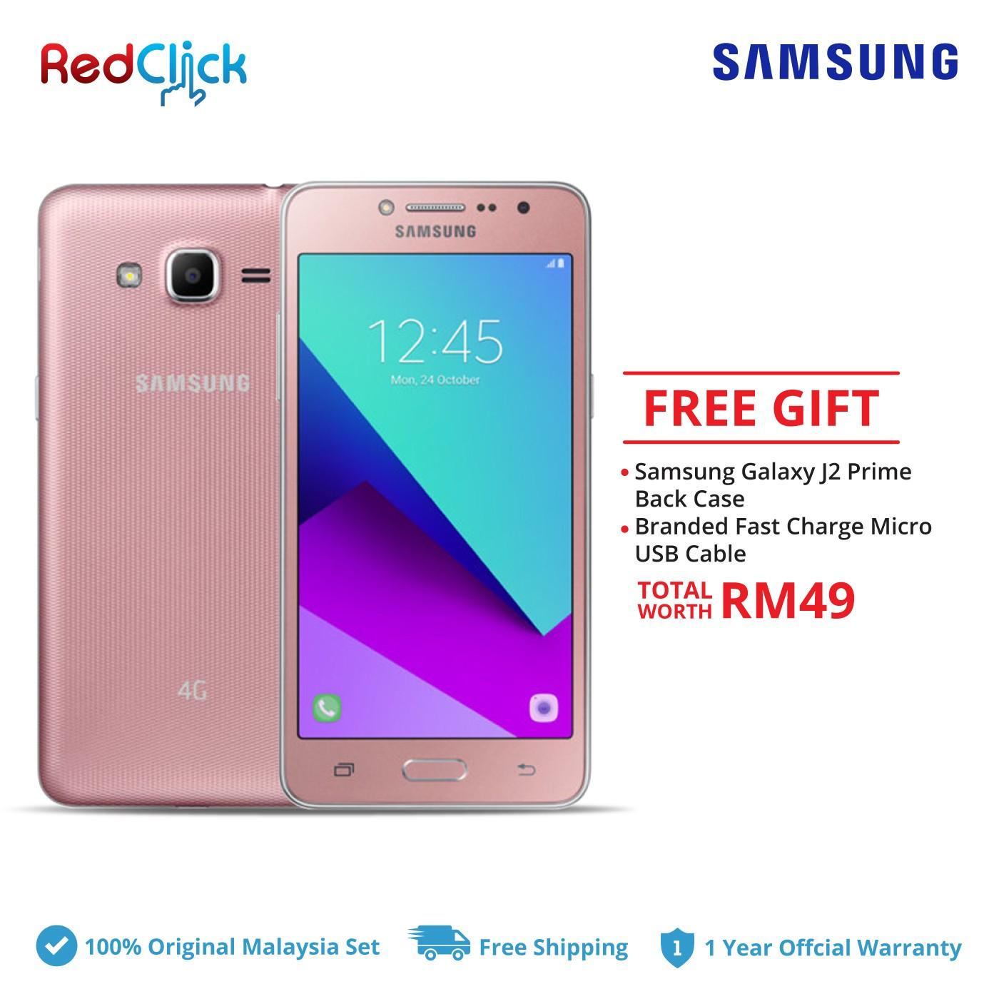 Samsung Galaxy J2 Prime/g532g 8GB Original Samsung Malaysia Set + 2 Free Gift Worth