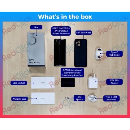 OPPO Find X3 Pro 5G (12GB/256GB) Original OPPO Malaysia Set + 6 Free Gift Worth RM599