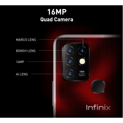 Infinix Hot 10 /x682 (4GB/64GB)(6GB/128GB) Original Infinix Malaysia Set + 6 Free Gift Worth RM99