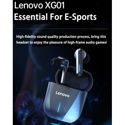 Lenovo XG01 True Wireless Gaming Earbuds 50ms Low Latency Bluetooth 5.0 Support Touch Control HiFi Sound Built-in Mic Earbuds