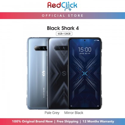 Black Shark 4 (6GB/128GB)(8GB/128GB)(12GB/256GB) Original Black Shark Malaysia Set + 3 Free Gift Worth RM99 (Only Applicable for 8GB/128GB and 12GB/256GB)