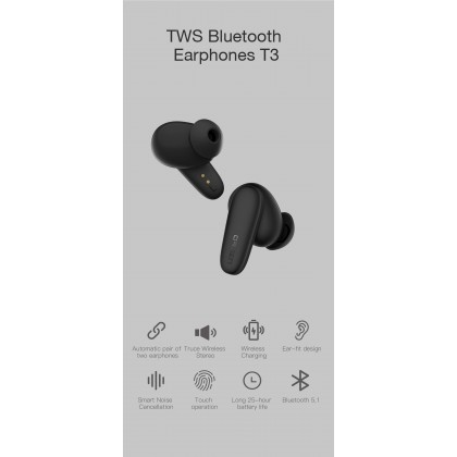Eloop T3 TWS Bluetooth 5.1 Earphone Smart Noise Cancellation Support Wireless Charging + Free Gift Worth RM69
