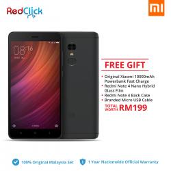 Xiaomi Redmi Note 4 (4GB/64GB) Original Xiaomi Malaysia Set + 4 Free Gift worth RM199