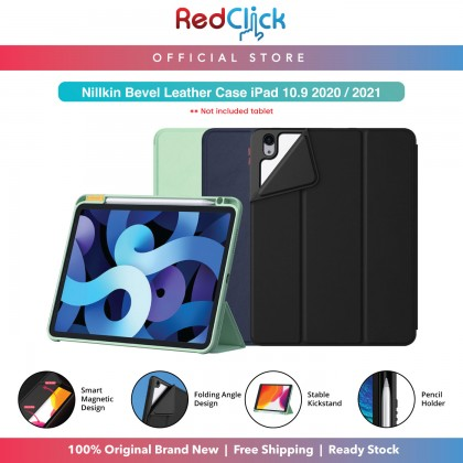 """Nillkin Apple iPad Air 10.9"""" 2020 / iPad Air 4 Bevel Leather Case Folding-Angle Design Flip Cover Stand Design with Pencil Holder Magnetic Cover Shockproof Tough"""