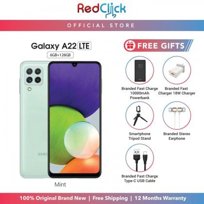 SAMSUNG GALAXY A22 LTE (6GB/128GB) ORIGINAL SAMSUNG MALAYSIA SET + 6 FREE GIFT WORTH RM199