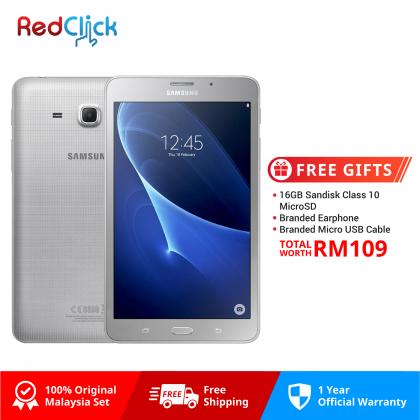 Samsung Galaxy Tab A 7.0 (2016) T285 1.5GB/8GB Original Samsung Malaysia Set + 3 FREE GIFT WORTH RM199