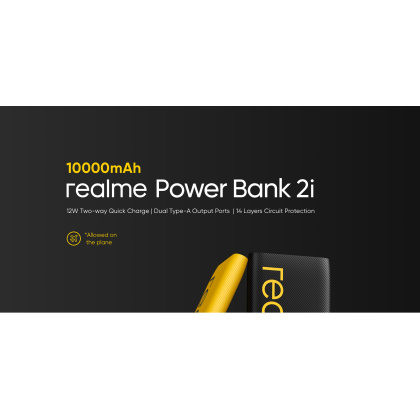 Realme Powerbank 2i /RMP2004 10000mAh 12W Two Way Fast Charge Dual Output and Input Port