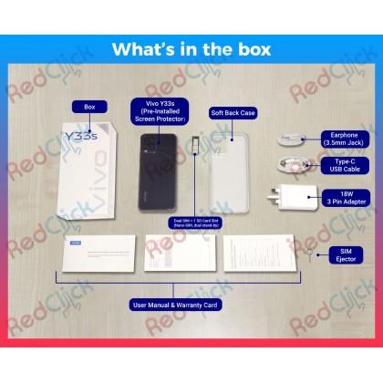 VIVO Y33S 4G LTE (8GB/128GB) ORIGINAL VIVO MALAYSIA SET +  FREE GIFT WORTH RM199