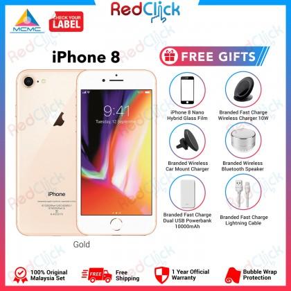 Apple iPhone 8 (64GB/ 256GB) Original Apple Malaysia Set + 4 Free Gift Worth RM199