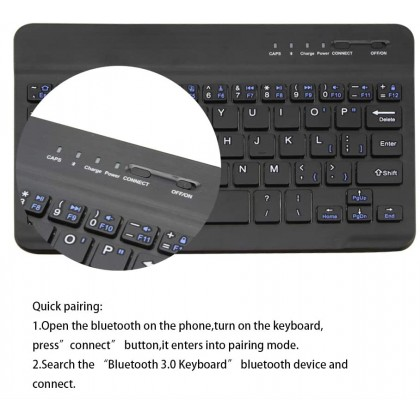 Portable Wireless Bluetooth Keyboard Bluetooth 3.0 For Phone and Tablet Compatible With Windows Android iOS