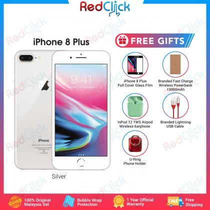 Apple iPhone 8 Plus (64GB/256GB) Original Apple Malaysia Set + 5 Free Gift Worth RM129