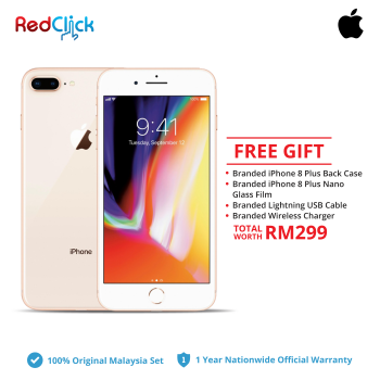 Apple iPhone 8 Plus ( 64GB / 256GB ) Original Apple Malaysia Set + 4 Free Gift Worth RM299