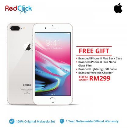 Apple iPhone 8 Plus ( 64GB / 256GB ) Original Apple Malaysia Set + 4 Free Gift Worth RM299