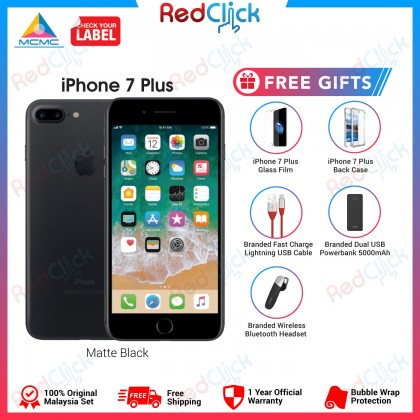 Apple iPhone 7 Plus (128GB) Original Apple Malaysia Set + 5 Free Gifts Worth RM139