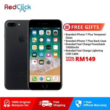 Apple iPhone 7 Plus (128GB) Original Apple Malaysia Set + 4 Free Gifts Worth RM149