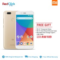 Xiaomi Mi A1 (4GB/64GB) Original Xiaomi Malaysia Set + 3 Free Gift Worth RM109