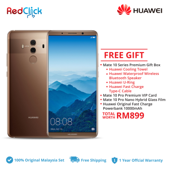 Huawei Mate 10 Pro/BLA-L29 (6GB/128GB) Original Huawei Malaysia Set + 4 Free Gift Total Worth RM899