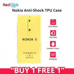 [Buy 1 Free 1] Nokia 3/Nokia 5 Anti Shock Transparent Back Case