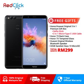 Honor 7X (4GB/64GB) Original Honor Malaysia Set + 5 Free Gift Worth RM299