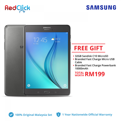 Samsung Galaxy Tab A 8.0/P355 (2GB/16GB) Original Samsung Malaysia Set + 3 Free Gift Worth RM199