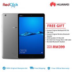 "Huawei MediaPad M3 Lite 8.0"" / CPN-L09 (3GB/32GB) Original Huawei Malaysia Set + 5 Free Gift Worth RM399"