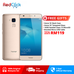 Honor 5C / NEM-L22 (2GB/16GB) Original Honor Malaysia Set + 4 Free Gift Worth RM119
