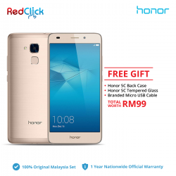 Honor 5C / NEM-L22 (2GB/16GB) Original Honor Malaysia Set + 3 Free Gift Worth RM99