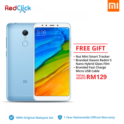Xiaomi Redmi 5 (3GB/32GB) Original Xiaomi Malaysia Set + 3 Free Gift Worth RM 129