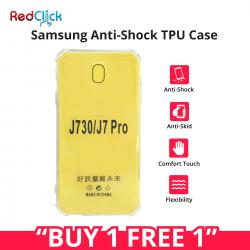 [Buy 1 Free 1] Samsung Galaxy J3 Pro/J5 Pro/J7 Pro Anti Shock Transparent Back Case