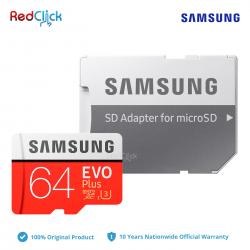 Samsung 64GB 100MB/s Micro SD Evo Plus Class 10 MicroSDXC UHS-I U3 4KUHD Memory Card with SD Adapter