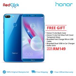 Honor 9 Lite /LLD-L21 (3GB/32GB) Original Honor Malaysia Set + 5 Free Gift Worth RM149